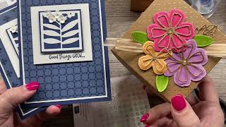 How to create a simple die cut card and a Spring Gift Box