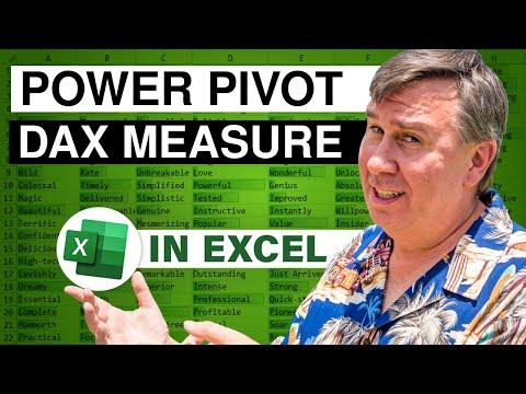 PowerPivot Data Analyst 10 - DAX Measures