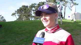 Charley Hull talks about her second round 70 at the LPGA MEDIHEAL Championship
