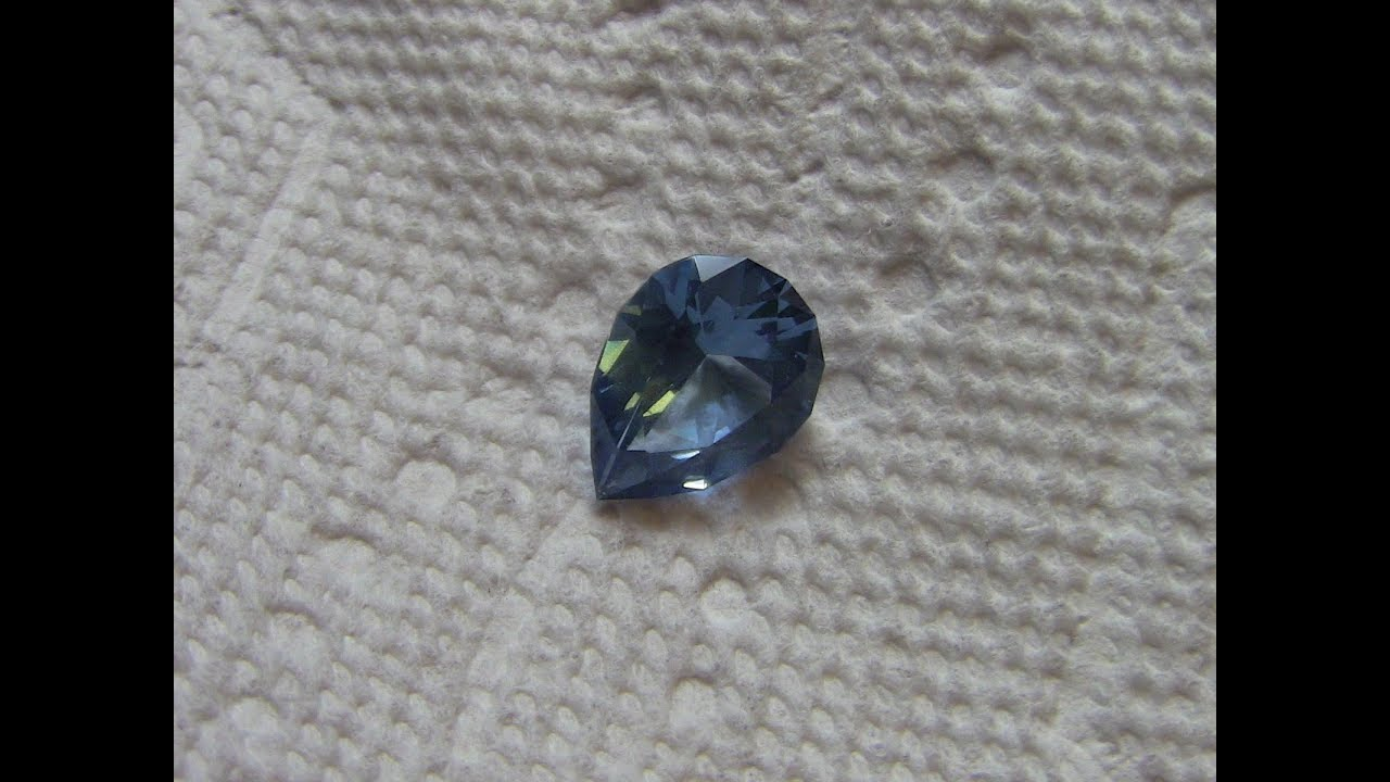 How to cut a gemstone, faceting a pear shape