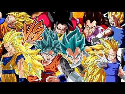 La Batalla Final Goku Vs Vegeta - Todas las Transformaciones #2