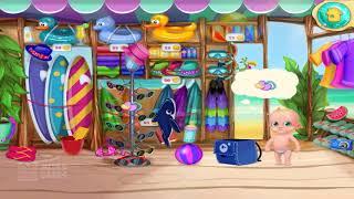 Веселый Уход За Ребенком И Обучение Цветам Детская Игра - Летние Каникулы - Пляжная Вечеринка По HD