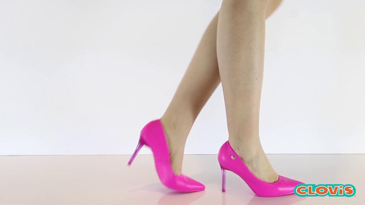 0725edaf15 Sapato Feminino Scarpin Salto Alto - Vizzano - YouTube