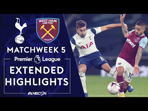 Tottenham v. West Ham United | PREMIER LEAGUE HIGHLIGHTS | 10/18/2020 | NBC Sports
