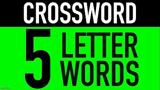 Crossword Puzzles with Answers #1 (5 Letter Words) | Crossword Word Games to Play screenshot 5