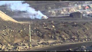 real one blasting a truck at mines(bandhabahal)