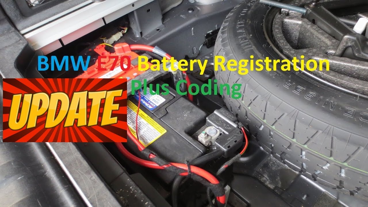 **UPDATE** BMW E70 X5 Battery Registration and Coding  Switch from AGM to  Lead Acid