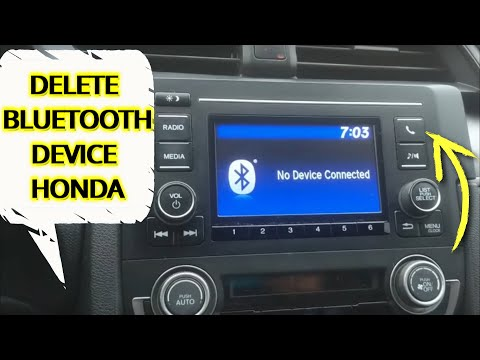 HOW TO DELETE BLUETOOTH DEVICE (PHONE PAIRING) ON INFOTAINMENT HONDA CIVIC 2016 2017 2018 2019