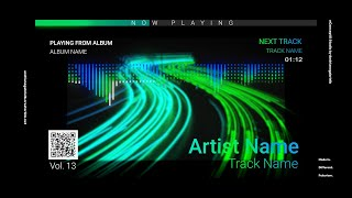 Audio Spectrum / Music Visualizer Concept S13 (Neon Street)-FREE After Effects Template Download