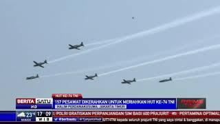 Kepulan Asap Berbentuk Hati Meriahkan Atraksi HUT ke-74 TNI