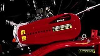 Motoculteur MEP900 6,5 CV avec charrue brabant et 8 fraises ELECTROPOWER