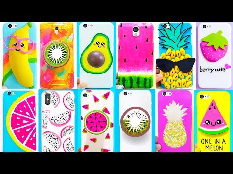 12 DIY PHONE CASES (Fruits-inspired) | Easy & Cute Phone Projects & iPhone Hacks