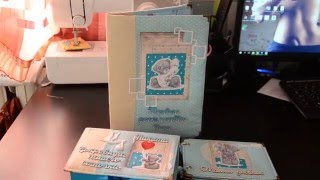Обзор Мамины  сокровища+папка для документов+мамин дневник, набор скрапбукинг