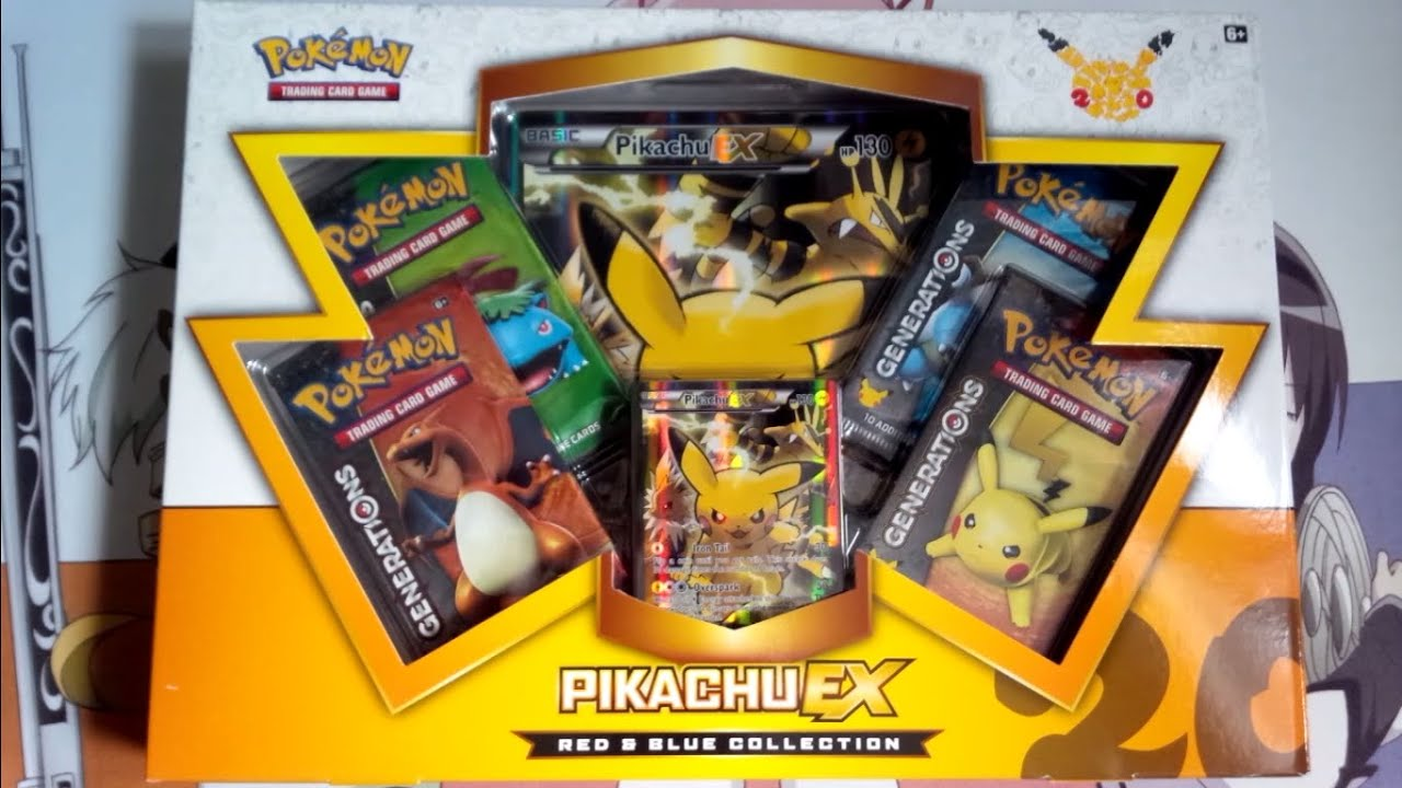 Pikachu Ex Red Amp Blue Collection Pokemon Box Early Opening Youtube