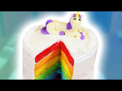 Thumbnail: HOW TO MAKE A RAINBOW CAKE - NERDY NUMMIES