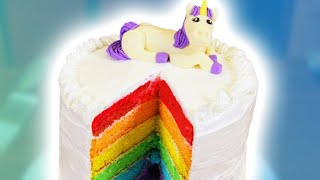HOW TO MAKE A RAINBOW CAKE - NERDY NUMMIES thumbnail