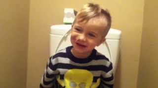 Toddler Toots on the Potty
