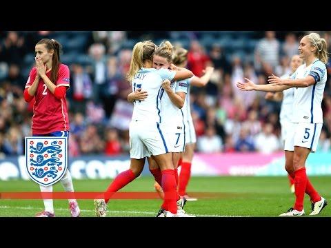 England Women 7-0 Serbia Women (Euro 2017 Qualifying) | Goals & Highlights