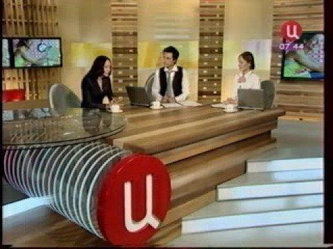 Никита Ганжа и Лиза Никитенко берут интервью у актрисы , телеведущей,легенды 1 канала Ангелины Вовк