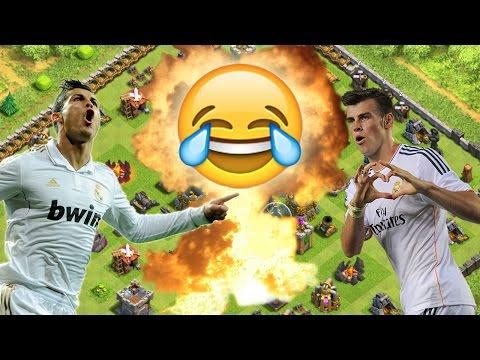 CLASH OF CLANS - Christiano Ronaldo vs Gareth Bale :D    Let's Play COC