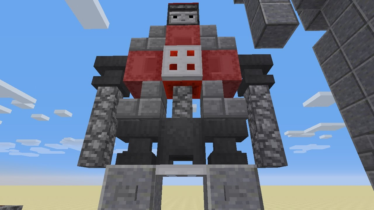 how to build an observer golem in minecraft - YouTube