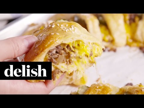 Cheeseburger Crescent Ring  Delish
