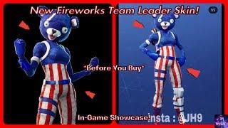 * NUEVO * Fuegos artificiales equipo líder de la piel! *Antes de comprar* (4 de julio Pieles) Fortnite Battle Royale