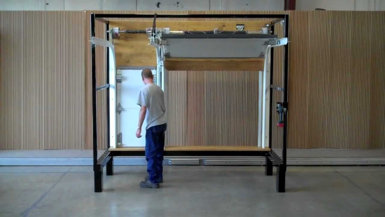 Swing Up Post Demonstration C H I Overhead Doors