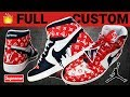 "Full Custom | LV Supreme Drip ""Homage To Home"" Style Jordan 1s by Sierato"