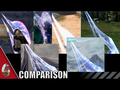 Halo 2-5 Energy Sword Comparison (All Halo Games Included)
