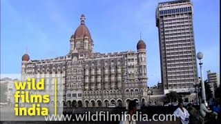 Taj Mahal Palace hotel as seen from Gateway of India - Mumbai