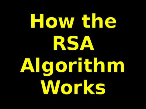 How The Rsa Algorithm Works Part Of