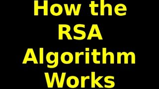 how the rsa algorithm works part 1 of 2