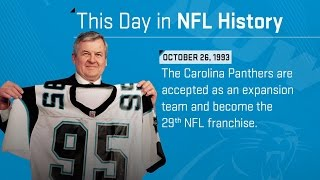The Carolina Panthers Become The 29th NFL Franchise |  This Day In NFL History (10/26/93) 2017 Video