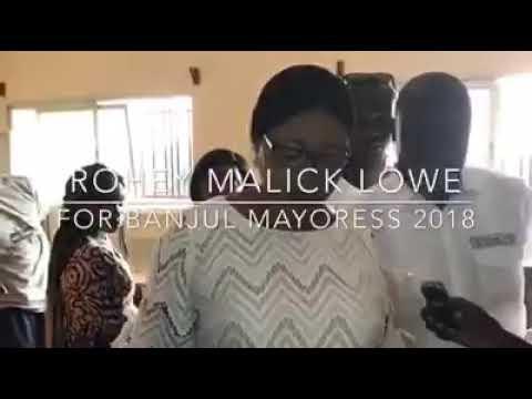 Banjul mayoress 2018