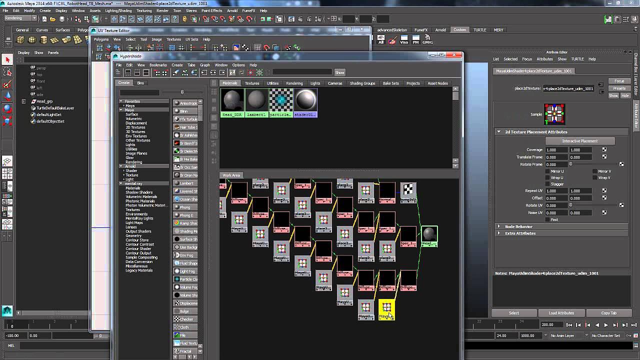 Multi Tiled Uv Set Up For Maya Tutorial Youtube