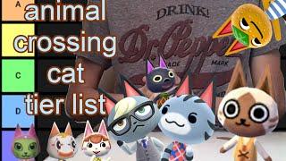 Animal Crossing Cat Tier List Youtube