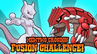 How to Draw MewTwo and Groudon Fusion | ART CHALLENGE