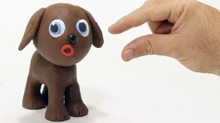 Puppy Chocodog 💕Superhero Play Doh Stop motion cartoons for kids