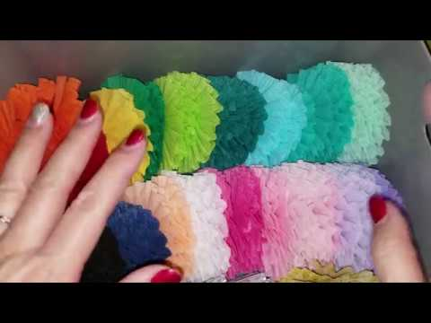Tutorial - Crepe Paper Rosettes: circular, heart shaped and tulle