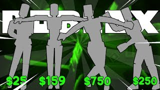 NEW EMOTES PAID IN ROBLOX