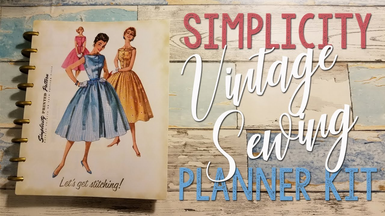 Vintage Sewing Planner Kit by Simplicity