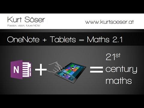 OneNote+Tablet-PC  = 21st century maths