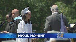 Officer Attends Graduation Of Girl He Saved Six Years Ago