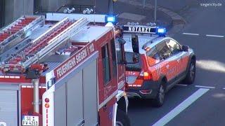 Großaufgebot von Einsatzkräften nach Verkehrsunfall - Siegen - 10.09.2015