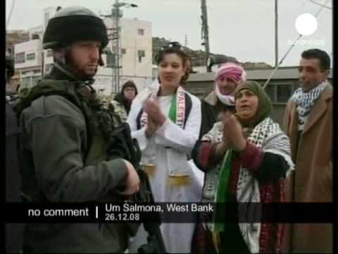 Wedding Protest At Separation Barrier In The West Bank
