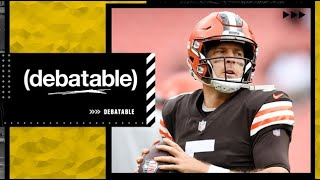 Could Baker Mayfield's job be in jeopardy if Case Keenum beats theBroncos?   (debatable)