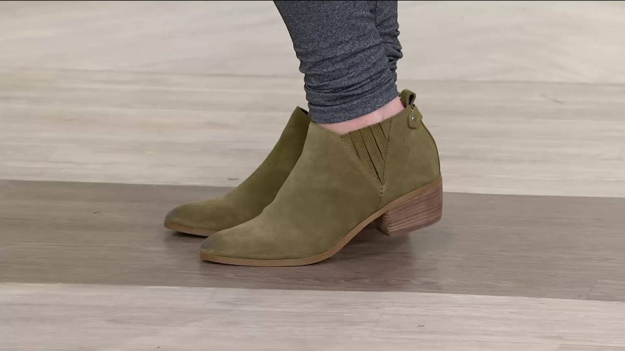 Marc Fisher Suede Ankle Boots w/ Stacked Heel - Wilde on QVC - Marc Fisher Suede Ankle Boots W/ Stacked Heel - Wilde On QVC - YouTube