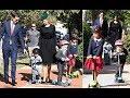 Ivanka Trump and Jared Kushner escort three children to synagogue to celebrate the Jewish holiday