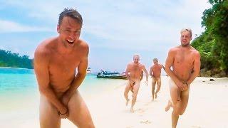 RUNNING NAKED ON KOH ROK BEACH